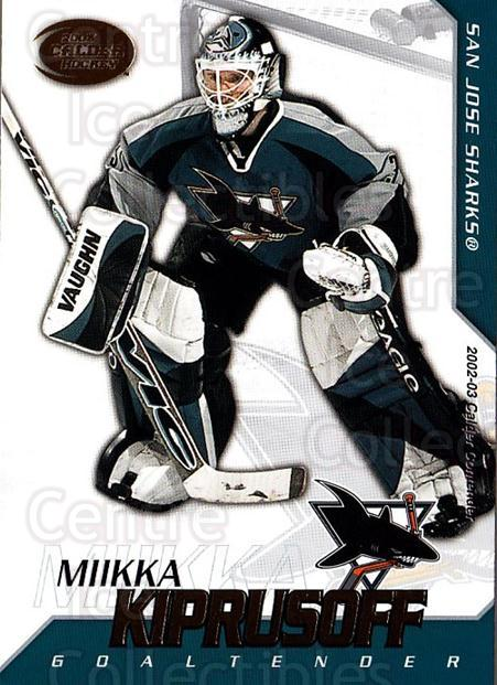 2002-03 Pacific Calder #94 Miikka Kiprusoff<br/>5 In Stock - $1.00 each - <a href=https://centericecollectibles.foxycart.com/cart?name=2002-03%20Pacific%20Calder%20%2394%20Miikka%20Kiprusof...&quantity_max=5&price=$1.00&code=432345 class=foxycart> Buy it now! </a>