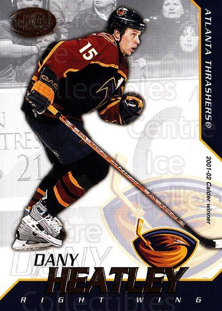 2002-03 Pacific Calder #1 Dany Heatley<br/>7 In Stock - $1.00 each - <a href=https://centericecollectibles.foxycart.com/cart?name=2002-03%20Pacific%20Calder%20%231%20Dany%20Heatley...&quantity_max=7&price=$1.00&code=432347 class=foxycart> Buy it now! </a>