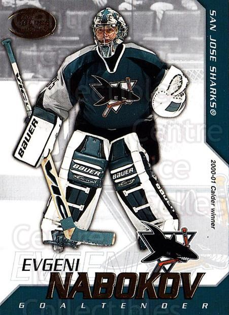 2002-03 Pacific Calder #3 Evgeni Nabokov<br/>8 In Stock - $1.00 each - <a href=https://centericecollectibles.foxycart.com/cart?name=2002-03%20Pacific%20Calder%20%233%20Evgeni%20Nabokov...&quantity_max=8&price=$1.00&code=432349 class=foxycart> Buy it now! </a>