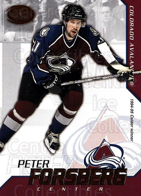 2002-03 Pacific Calder #15 Peter Forsberg<br/>4 In Stock - $1.00 each - <a href=https://centericecollectibles.foxycart.com/cart?name=2002-03%20Pacific%20Calder%20%2315%20Peter%20Forsberg...&quantity_max=4&price=$1.00&code=432357 class=foxycart> Buy it now! </a>