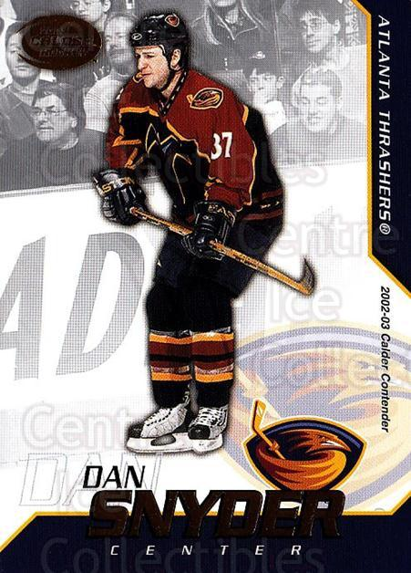 2002-03 Pacific Calder #53 Dan Snyder<br/>6 In Stock - $1.00 each - <a href=https://centericecollectibles.foxycart.com/cart?name=2002-03%20Pacific%20Calder%20%2353%20Dan%20Snyder...&quantity_max=6&price=$1.00&code=432392 class=foxycart> Buy it now! </a>