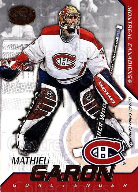 2002-03 Pacific Calder #75 Mathieu Garon<br/>6 In Stock - $1.00 each - <a href=https://centericecollectibles.foxycart.com/cart?name=2002-03%20Pacific%20Calder%20%2375%20Mathieu%20Garon...&quantity_max=6&price=$1.00&code=432412 class=foxycart> Buy it now! </a>
