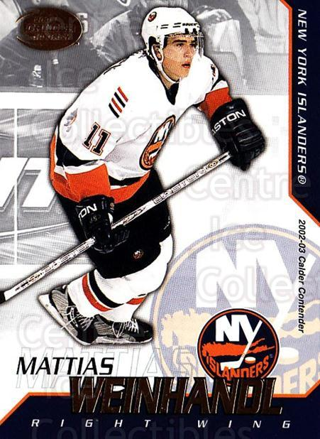 2002-03 Pacific Calder #83 Mattias Weinhandl<br/>7 In Stock - $1.00 each - <a href=https://centericecollectibles.foxycart.com/cart?name=2002-03%20Pacific%20Calder%20%2383%20Mattias%20Weinhan...&quantity_max=7&price=$1.00&code=432419 class=foxycart> Buy it now! </a>