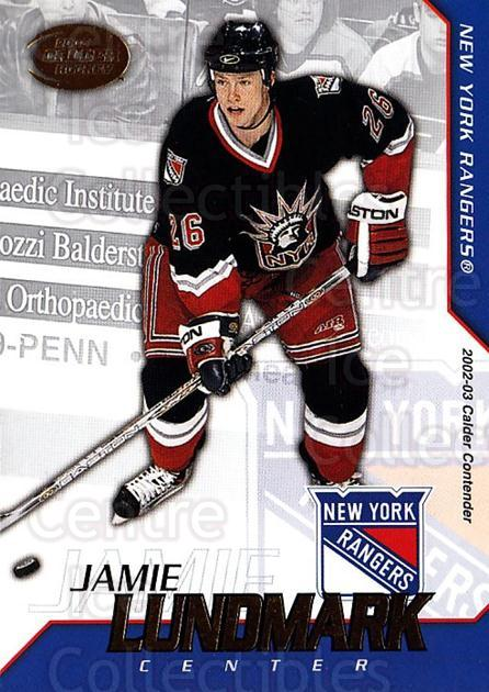 2002-03 Pacific Calder #84 Jamie Lundmark<br/>4 In Stock - $1.00 each - <a href=https://centericecollectibles.foxycart.com/cart?name=2002-03%20Pacific%20Calder%20%2384%20Jamie%20Lundmark...&quantity_max=4&price=$1.00&code=432420 class=foxycart> Buy it now! </a>