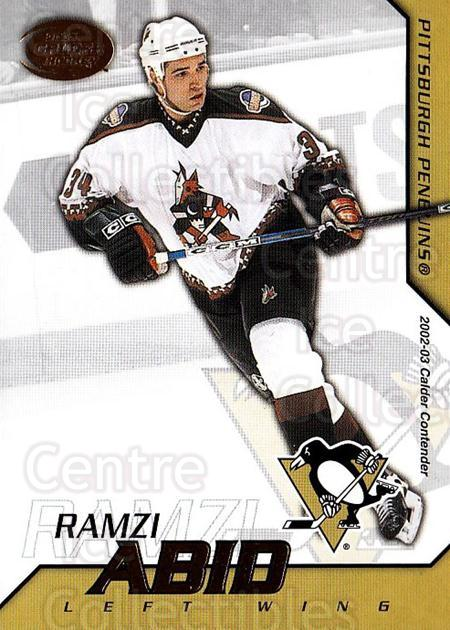2002-03 Pacific Calder #88 Ramzi Abid<br/>2 In Stock - $1.00 each - <a href=https://centericecollectibles.foxycart.com/cart?name=2002-03%20Pacific%20Calder%20%2388%20Ramzi%20Abid...&quantity_max=2&price=$1.00&code=432424 class=foxycart> Buy it now! </a>