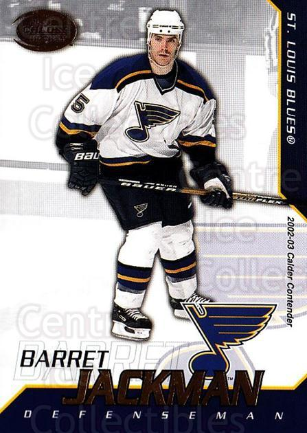 2002-03 Pacific Calder #91 Barret Jackman<br/>8 In Stock - $1.00 each - <a href=https://centericecollectibles.foxycart.com/cart?name=2002-03%20Pacific%20Calder%20%2391%20Barret%20Jackman...&quantity_max=8&price=$1.00&code=432427 class=foxycart> Buy it now! </a>