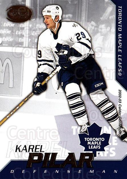 2002-03 Pacific Calder #96 Karel Pilar<br/>5 In Stock - $1.00 each - <a href=https://centericecollectibles.foxycart.com/cart?name=2002-03%20Pacific%20Calder%20%2396%20Karel%20Pilar...&quantity_max=5&price=$1.00&code=432431 class=foxycart> Buy it now! </a>