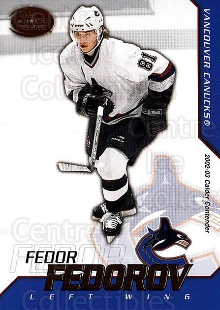 2002-03 Pacific Calder #97 Fedor Fedorov<br/>6 In Stock - $1.00 each - <a href=https://centericecollectibles.foxycart.com/cart?name=2002-03%20Pacific%20Calder%20%2397%20Fedor%20Fedorov...&quantity_max=6&price=$1.00&code=432432 class=foxycart> Buy it now! </a>