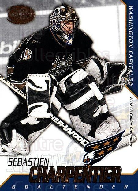 2002-03 Pacific Calder #98 Sebastien Charpentier<br/>6 In Stock - $1.00 each - <a href=https://centericecollectibles.foxycart.com/cart?name=2002-03%20Pacific%20Calder%20%2398%20Sebastien%20Charp...&quantity_max=6&price=$1.00&code=432433 class=foxycart> Buy it now! </a>