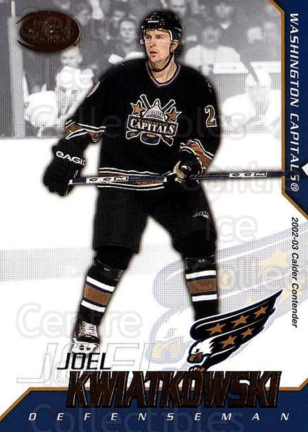 2002-03 Pacific Calder #99 Joel Kwiatkowski<br/>4 In Stock - $1.00 each - <a href=https://centericecollectibles.foxycart.com/cart?name=2002-03%20Pacific%20Calder%20%2399%20Joel%20Kwiatkowsk...&quantity_max=4&price=$1.00&code=432434 class=foxycart> Buy it now! </a>