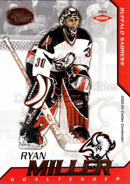 2002-03 Pacific Calder #106 Ryan Miller<br/>3 In Stock - $5.00 each - <a href=https://centericecollectibles.foxycart.com/cart?name=2002-03%20Pacific%20Calder%20%23106%20Ryan%20Miller...&quantity_max=3&price=$5.00&code=432441 class=foxycart> Buy it now! </a>