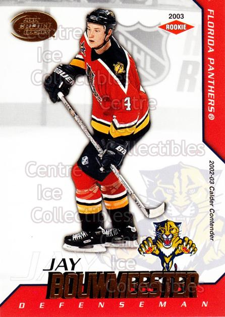 2002-03 Pacific Calder #119 Jay Bouwmeester<br/>6 In Stock - $5.00 each - <a href=https://centericecollectibles.foxycart.com/cart?name=2002-03%20Pacific%20Calder%20%23119%20Jay%20Bouwmeester...&quantity_max=6&price=$5.00&code=432454 class=foxycart> Buy it now! </a>