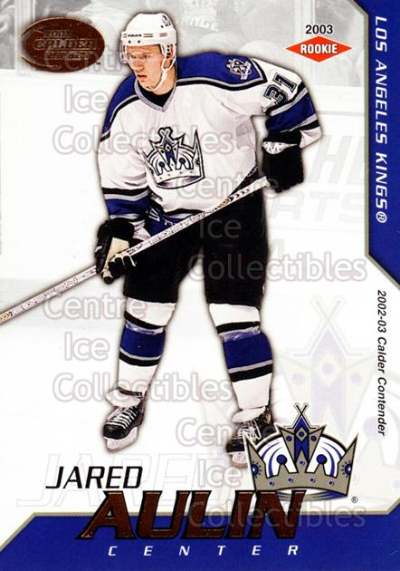 2002-03 Pacific Calder #120 Jared Aulin<br/>3 In Stock - $3.00 each - <a href=https://centericecollectibles.foxycart.com/cart?name=2002-03%20Pacific%20Calder%20%23120%20Jared%20Aulin...&quantity_max=3&price=$3.00&code=432455 class=foxycart> Buy it now! </a>