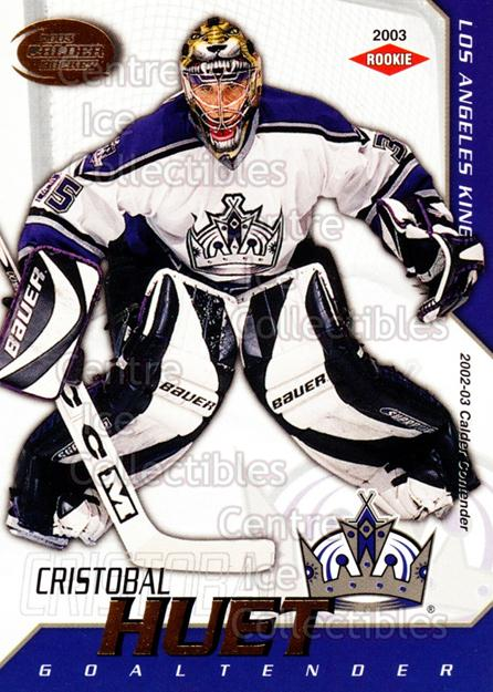 2002-03 Pacific Calder #123 Cristobal Huet<br/>2 In Stock - $3.00 each - <a href=https://centericecollectibles.foxycart.com/cart?name=2002-03%20Pacific%20Calder%20%23123%20Cristobal%20Huet...&quantity_max=2&price=$3.00&code=432458 class=foxycart> Buy it now! </a>