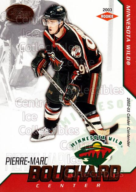 2002-03 Pacific Calder #124 Pierre-Marc Bouchard<br/>3 In Stock - $3.00 each - <a href=https://centericecollectibles.foxycart.com/cart?name=2002-03%20Pacific%20Calder%20%23124%20Pierre-Marc%20Bou...&quantity_max=3&price=$3.00&code=432459 class=foxycart> Buy it now! </a>