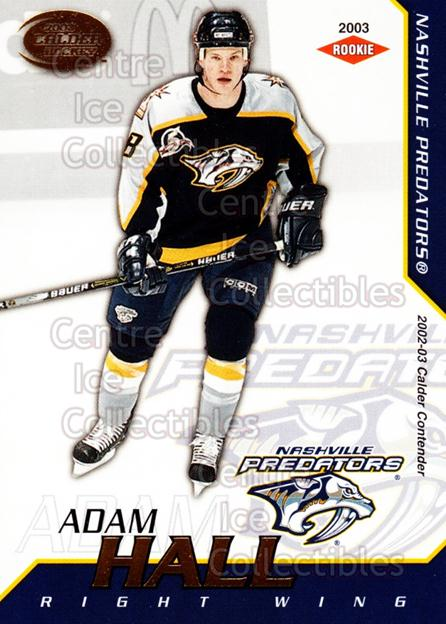 2002-03 Pacific Calder #129 Adam Hall<br/>4 In Stock - $3.00 each - <a href=https://centericecollectibles.foxycart.com/cart?name=2002-03%20Pacific%20Calder%20%23129%20Adam%20Hall...&quantity_max=4&price=$3.00&code=432464 class=foxycart> Buy it now! </a>
