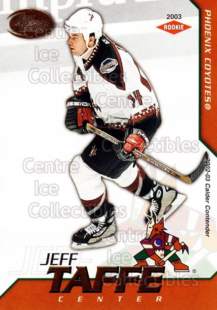2002-03 Pacific Calder #138 Jeff Taffe<br/>7 In Stock - $3.00 each - <a href=https://centericecollectibles.foxycart.com/cart?name=2002-03%20Pacific%20Calder%20%23138%20Jeff%20Taffe...&quantity_max=7&price=$3.00&code=432473 class=foxycart> Buy it now! </a>