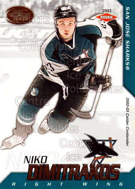 2002-03 Pacific Calder #143 Niko Dimitrakos<br/>6 In Stock - $3.00 each - <a href=https://centericecollectibles.foxycart.com/cart?name=2002-03%20Pacific%20Calder%20%23143%20Niko%20Dimitrakos...&quantity_max=6&price=$3.00&code=432477 class=foxycart> Buy it now! </a>