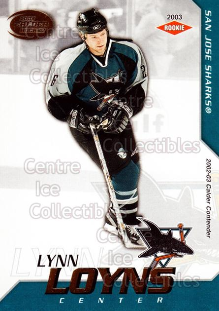 2002-03 Pacific Calder #145 Lynn Loyns<br/>1 In Stock - $3.00 each - <a href=https://centericecollectibles.foxycart.com/cart?name=2002-03%20Pacific%20Calder%20%23145%20Lynn%20Loyns...&quantity_max=1&price=$3.00&code=432479 class=foxycart> Buy it now! </a>