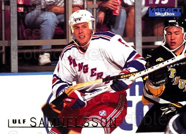 1995-96 SkyBox Impact #114 Ulf Samuelsson<br/>5 In Stock - $1.00 each - <a href=https://centericecollectibles.foxycart.com/cart?name=1995-96%20SkyBox%20Impact%20%23114%20Ulf%20Samuelsson...&quantity_max=5&price=$1.00&code=43273 class=foxycart> Buy it now! </a>