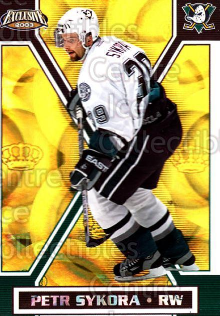 2002-03 Pacific Exclusive Gold #4 Petr Sykora<br/>5 In Stock - $2.00 each - <a href=https://centericecollectibles.foxycart.com/cart?name=2002-03%20Pacific%20Exclusive%20Gold%20%234%20Petr%20Sykora...&quantity_max=5&price=$2.00&code=432903 class=foxycart> Buy it now! </a>