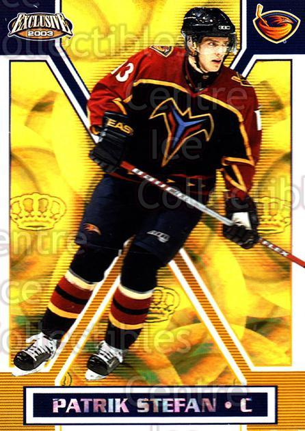 2002-03 Pacific Exclusive Gold #9 Patrik Stefan<br/>6 In Stock - $2.00 each - <a href=https://centericecollectibles.foxycart.com/cart?name=2002-03%20Pacific%20Exclusive%20Gold%20%239%20Patrik%20Stefan...&quantity_max=6&price=$2.00&code=432908 class=foxycart> Buy it now! </a>
