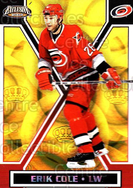 2002-03 Pacific Exclusive Gold #27 Erik Cole<br/>5 In Stock - $2.00 each - <a href=https://centericecollectibles.foxycart.com/cart?name=2002-03%20Pacific%20Exclusive%20Gold%20%2327%20Erik%20Cole...&quantity_max=5&price=$2.00&code=432926 class=foxycart> Buy it now! </a>