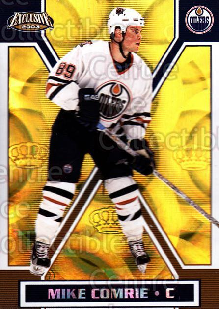 2002-03 Pacific Exclusive Gold #70 Mike Comrie<br/>5 In Stock - $2.00 each - <a href=https://centericecollectibles.foxycart.com/cart?name=2002-03%20Pacific%20Exclusive%20Gold%20%2370%20Mike%20Comrie...&quantity_max=5&price=$2.00&code=432969 class=foxycart> Buy it now! </a>