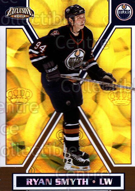 2002-03 Pacific Exclusive Gold #73 Ryan Smyth<br/>3 In Stock - $2.00 each - <a href=https://centericecollectibles.foxycart.com/cart?name=2002-03%20Pacific%20Exclusive%20Gold%20%2373%20Ryan%20Smyth...&quantity_max=3&price=$2.00&code=432972 class=foxycart> Buy it now! </a>