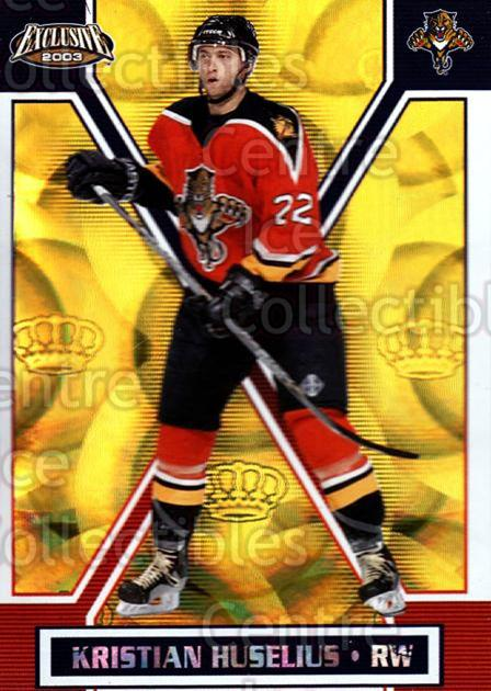 2002-03 Pacific Exclusive Gold #76 Kristian Huselius<br/>5 In Stock - $2.00 each - <a href=https://centericecollectibles.foxycart.com/cart?name=2002-03%20Pacific%20Exclusive%20Gold%20%2376%20Kristian%20Huseli...&quantity_max=5&price=$2.00&code=432975 class=foxycart> Buy it now! </a>