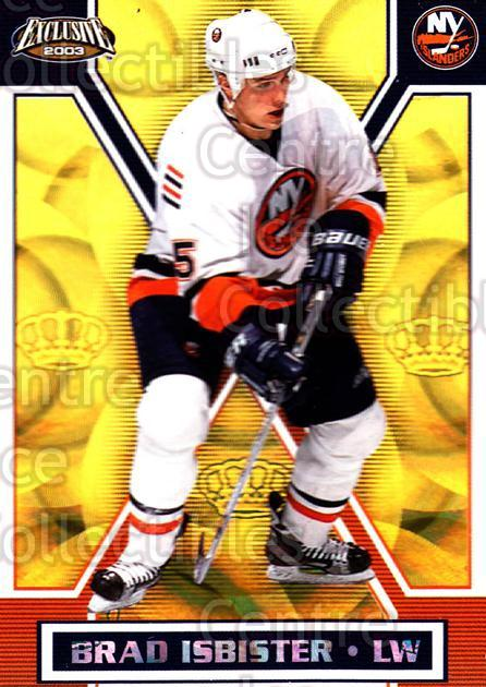 2002-03 Pacific Exclusive Gold #107 Brad Isbister<br/>5 In Stock - $2.00 each - <a href=https://centericecollectibles.foxycart.com/cart?name=2002-03%20Pacific%20Exclusive%20Gold%20%23107%20Brad%20Isbister...&quantity_max=5&price=$2.00&code=433006 class=foxycart> Buy it now! </a>