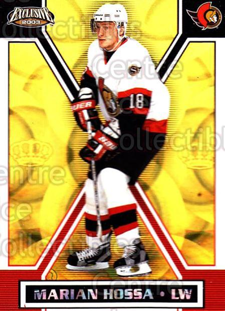2002-03 Pacific Exclusive Gold #122 Marian Hossa<br/>4 In Stock - $2.00 each - <a href=https://centericecollectibles.foxycart.com/cart?name=2002-03%20Pacific%20Exclusive%20Gold%20%23122%20Marian%20Hossa...&quantity_max=4&price=$2.00&code=433021 class=foxycart> Buy it now! </a>