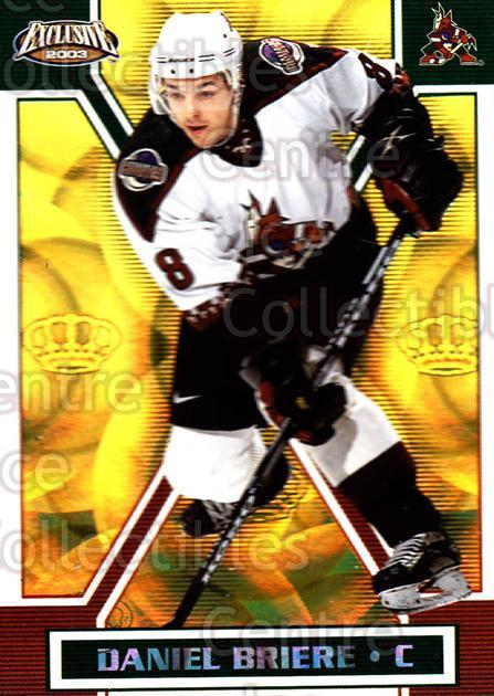 2002-03 Pacific Exclusive Gold #132 Daniel Briere<br/>4 In Stock - $2.00 each - <a href=https://centericecollectibles.foxycart.com/cart?name=2002-03%20Pacific%20Exclusive%20Gold%20%23132%20Daniel%20Briere...&quantity_max=4&price=$2.00&code=433031 class=foxycart> Buy it now! </a>