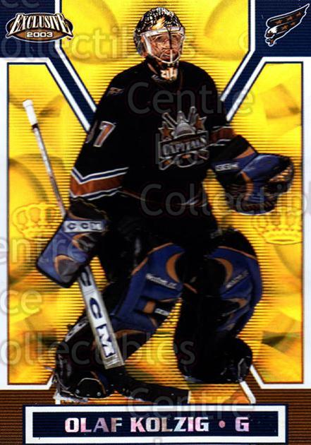 2002-03 Pacific Exclusive Gold #173 Olaf Kolzig<br/>4 In Stock - $2.00 each - <a href=https://centericecollectibles.foxycart.com/cart?name=2002-03%20Pacific%20Exclusive%20Gold%20%23173%20Olaf%20Kolzig...&quantity_max=4&price=$2.00&code=433072 class=foxycart> Buy it now! </a>