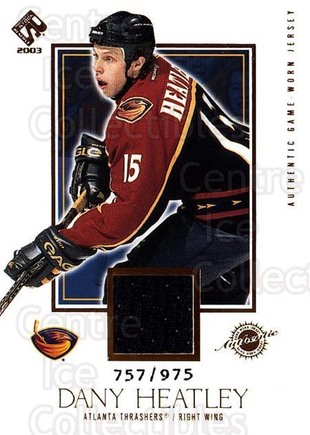 2002-03 Private Stock #102 Dany Heatley<br/>1 In Stock - $5.00 each - <a href=https://centericecollectibles.foxycart.com/cart?name=2002-03%20Private%20Stock%20%23102%20Dany%20Heatley...&quantity_max=1&price=$5.00&code=433403 class=foxycart> Buy it now! </a>