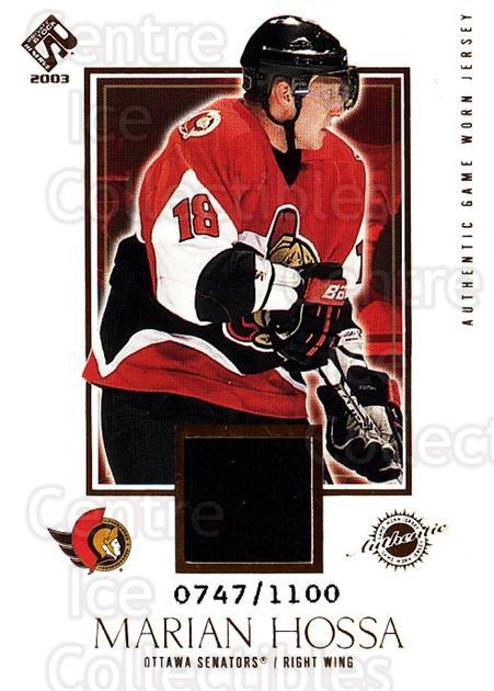 2002-03 Private Stock #134 Marian Hossa<br/>1 In Stock - $5.00 each - <a href=https://centericecollectibles.foxycart.com/cart?name=2002-03%20Private%20Stock%20%23134%20Marian%20Hossa...&quantity_max=1&price=$5.00&code=433435 class=foxycart> Buy it now! </a>