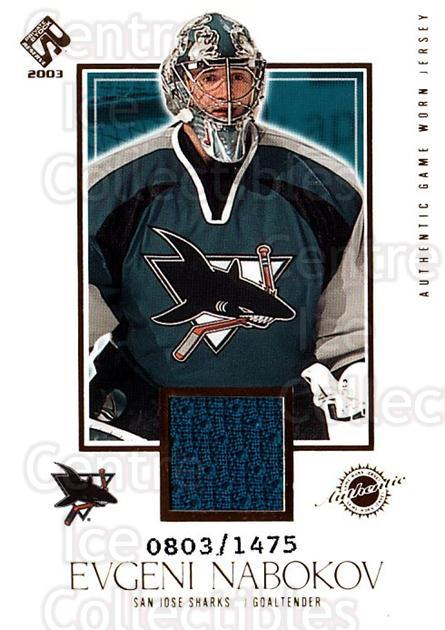 2002-03 Private Stock #141 Evgeni Nabokov<br/>2 In Stock - $5.00 each - <a href=https://centericecollectibles.foxycart.com/cart?name=2002-03%20Private%20Stock%20%23141%20Evgeni%20Nabokov...&quantity_max=2&price=$5.00&code=433442 class=foxycart> Buy it now! </a>