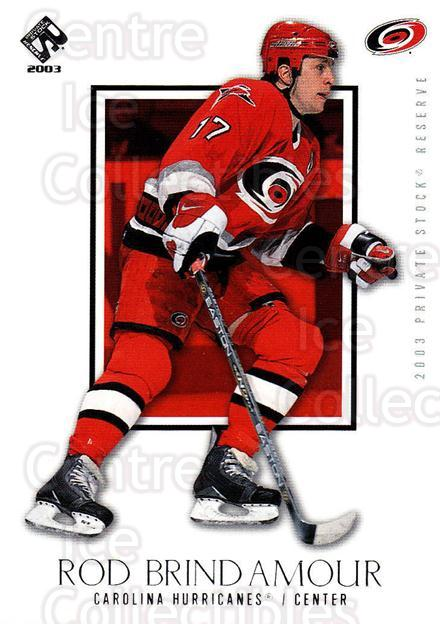 2002-03 Private Stock Retail #15 Rod Brind'Amour<br/>5 In Stock - $1.00 each - <a href=https://centericecollectibles.foxycart.com/cart?name=2002-03%20Private%20Stock%20Retail%20%2315%20Rod%20Brind'Amour...&quantity_max=5&price=$1.00&code=433501 class=foxycart> Buy it now! </a>