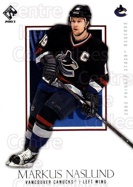 2002-03 Private Stock Retail #97 Markus Naslund<br/>6 In Stock - $1.00 each - <a href=https://centericecollectibles.foxycart.com/cart?name=2002-03%20Private%20Stock%20Retail%20%2397%20Markus%20Naslund...&quantity_max=6&price=$1.00&code=433583 class=foxycart> Buy it now! </a>