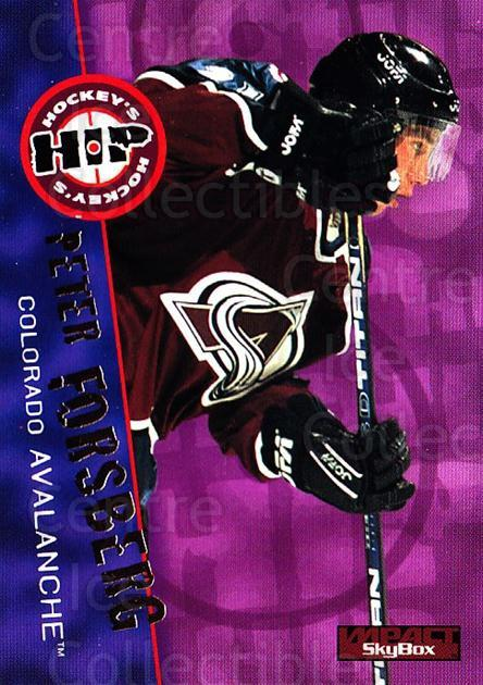 1995-96 SkyBox Impact #229 Peter Forsberg<br/>4 In Stock - $2.00 each - <a href=https://centericecollectibles.foxycart.com/cart?name=1995-96%20SkyBox%20Impact%20%23229%20Peter%20Forsberg...&quantity_max=4&price=$2.00&code=43392 class=foxycart> Buy it now! </a>