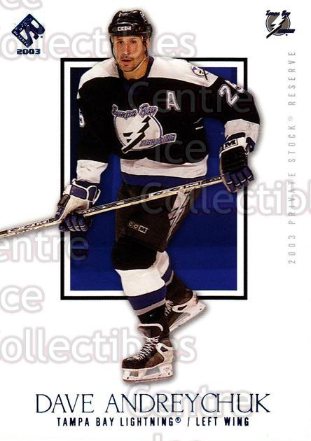 2002-03 Private Stock Blue #90 Dave Andreychuk<br/>3 In Stock - $3.00 each - <a href=https://centericecollectibles.foxycart.com/cart?name=2002-03%20Private%20Stock%20Blue%20%2390%20Dave%20Andreychuk...&quantity_max=3&price=$3.00&code=433946 class=foxycart> Buy it now! </a>