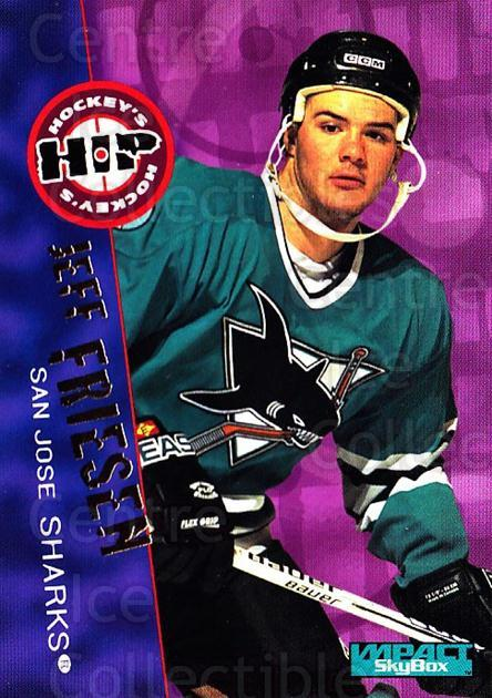 1995-96 SkyBox Impact #235 Jeff Friesen<br/>5 In Stock - $1.00 each - <a href=https://centericecollectibles.foxycart.com/cart?name=1995-96%20SkyBox%20Impact%20%23235%20Jeff%20Friesen...&quantity_max=5&price=$1.00&code=43399 class=foxycart> Buy it now! </a>