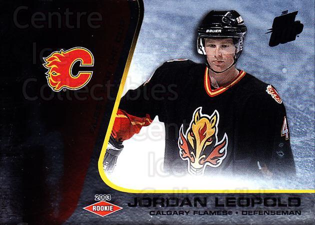 2002-03 Quest for the Cup #109 Jordan Leopold<br/>1 In Stock - $3.00 each - <a href=https://centericecollectibles.foxycart.com/cart?name=2002-03%20Quest%20for%20the%20Cup%20%23109%20Jordan%20Leopold...&quantity_max=1&price=$3.00&code=434150 class=foxycart> Buy it now! </a>