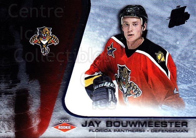 2002-03 Quest for the Cup #120 Jay Bouwmeester<br/>1 In Stock - $3.00 each - <a href=https://centericecollectibles.foxycart.com/cart?name=2002-03%20Quest%20for%20the%20Cup%20%23120%20Jay%20Bouwmeester...&quantity_max=1&price=$3.00&code=434161 class=foxycart> Buy it now! </a>