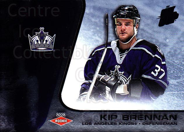 2002-03 Quest for the Cup #121 Kip Brennan<br/>1 In Stock - $3.00 each - <a href=https://centericecollectibles.foxycart.com/cart?name=2002-03%20Quest%20for%20the%20Cup%20%23121%20Kip%20Brennan...&quantity_max=1&price=$3.00&code=434162 class=foxycart> Buy it now! </a>