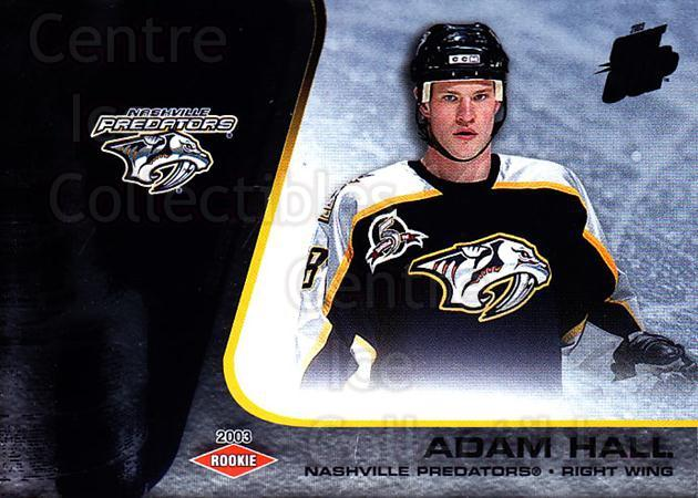 2002-03 Quest for the Cup #129 Adam Hall<br/>1 In Stock - $3.00 each - <a href=https://centericecollectibles.foxycart.com/cart?name=2002-03%20Quest%20for%20the%20Cup%20%23129%20Adam%20Hall...&quantity_max=1&price=$3.00&code=434170 class=foxycart> Buy it now! </a>