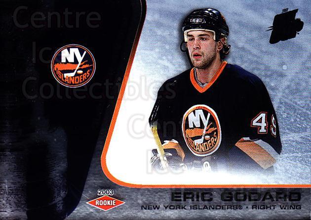 2002-03 Quest for the Cup #131 Eric Godard<br/>1 In Stock - $3.00 each - <a href=https://centericecollectibles.foxycart.com/cart?name=2002-03%20Quest%20for%20the%20Cup%20%23131%20Eric%20Godard...&quantity_max=1&price=$3.00&code=434172 class=foxycart> Buy it now! </a>