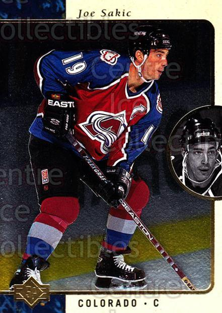 1995-96 SP #31 Joe Sakic<br/>4 In Stock - $1.00 each - <a href=https://centericecollectibles.foxycart.com/cart?name=1995-96%20SP%20%2331%20Joe%20Sakic...&price=$1.00&code=43578 class=foxycart> Buy it now! </a>