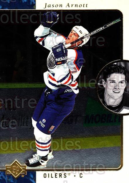 1995-96 SP #51 Jason Arnott<br/>7 In Stock - $1.00 each - <a href=https://centericecollectibles.foxycart.com/cart?name=1995-96%20SP%20%2351%20Jason%20Arnott...&quantity_max=7&price=$1.00&code=43600 class=foxycart> Buy it now! </a>