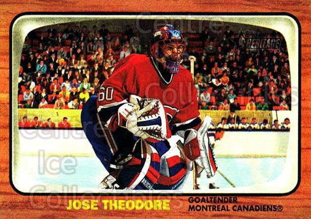 2002-03 Topps Heritage #3 Jose Theodore<br/>3 In Stock - $1.00 each - <a href=https://centericecollectibles.foxycart.com/cart?name=2002-03%20Topps%20Heritage%20%233%20Jose%20Theodore...&quantity_max=3&price=$1.00&code=436038 class=foxycart> Buy it now! </a>